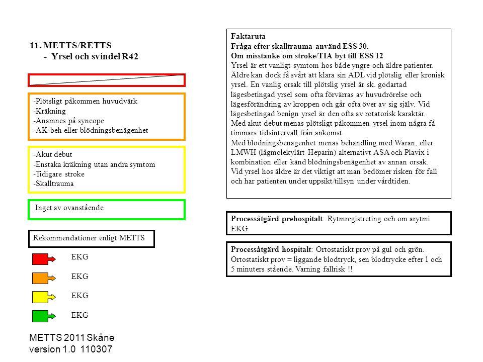 11. METTS/RETTS - Yrsel och svindel R42