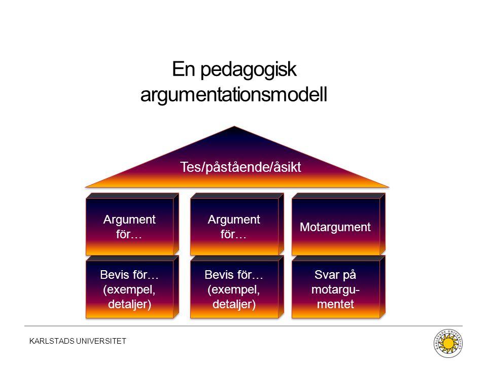 En pedagogisk argumentationsmodell