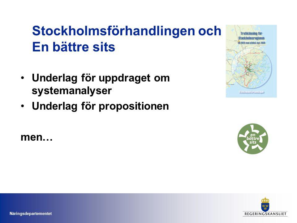 Stockholmsförhandlingen och En bättre sits