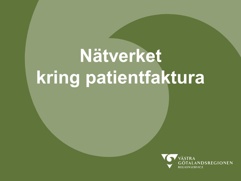 Nätverket kring patientfaktura