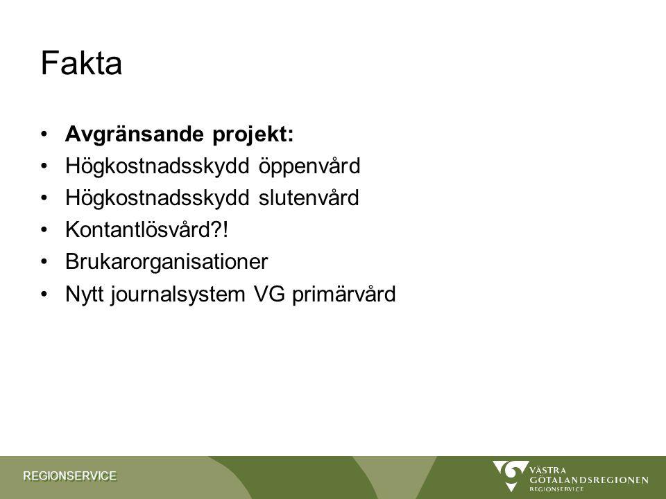 Fakta Avgränsande projekt: Högkostnadsskydd öppenvård