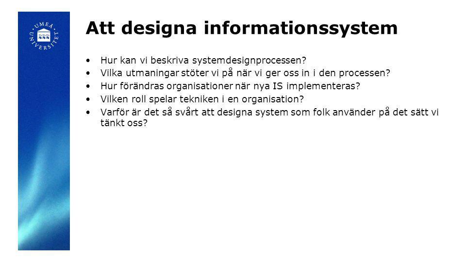 Att designa informationssystem