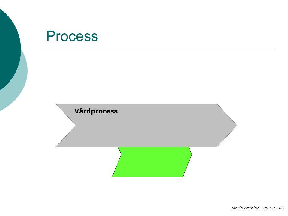 Process Vårdprocess Maria Areblad 2003-03-06