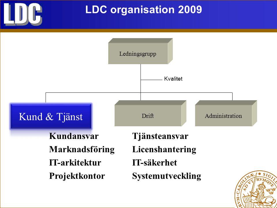 LDC organisation 2009 Kund & Tjänst
