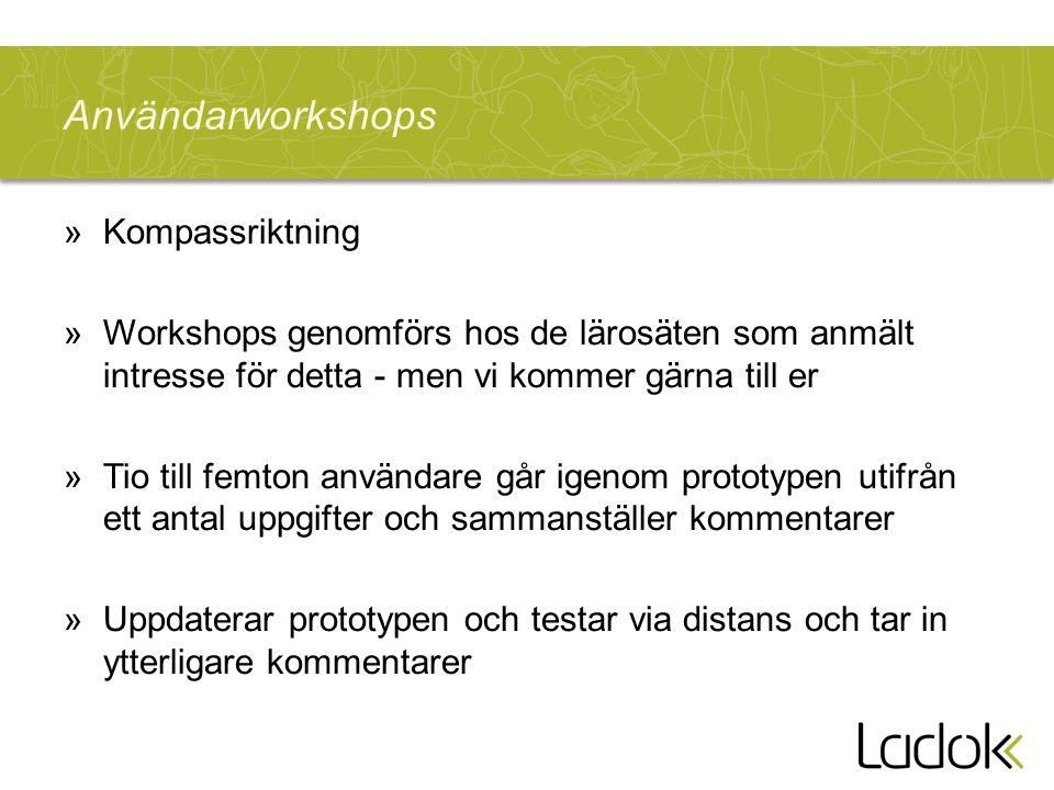 Användarworkshops Kompassriktning