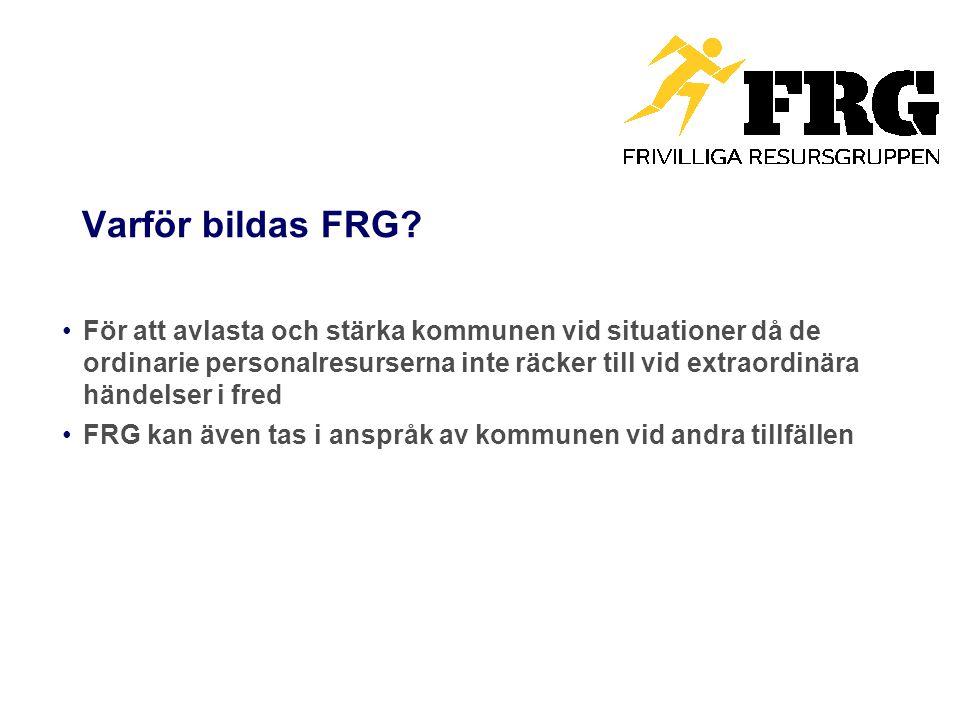 Varför bildas FRG