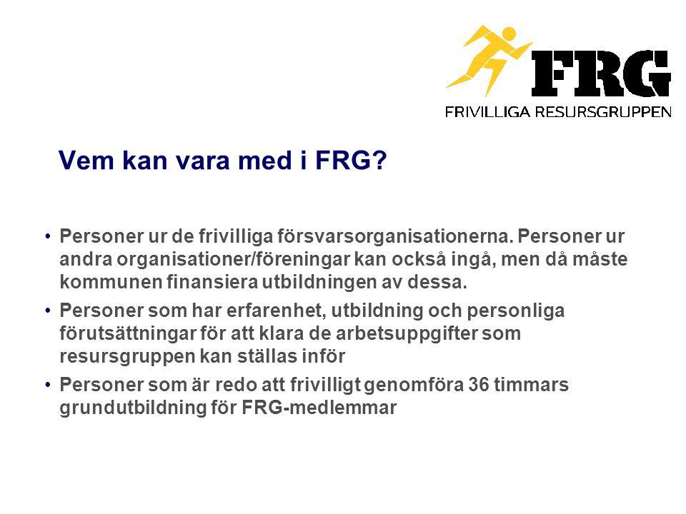Vem kan vara med i FRG