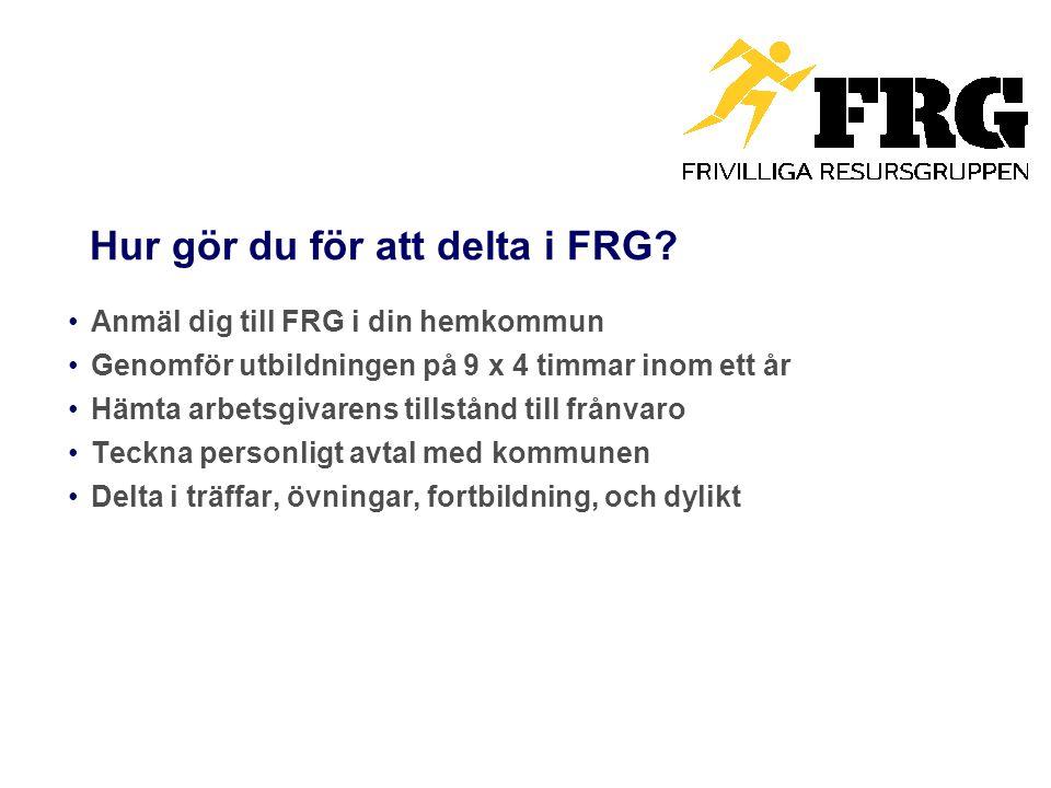 Hur gör du för att delta i FRG