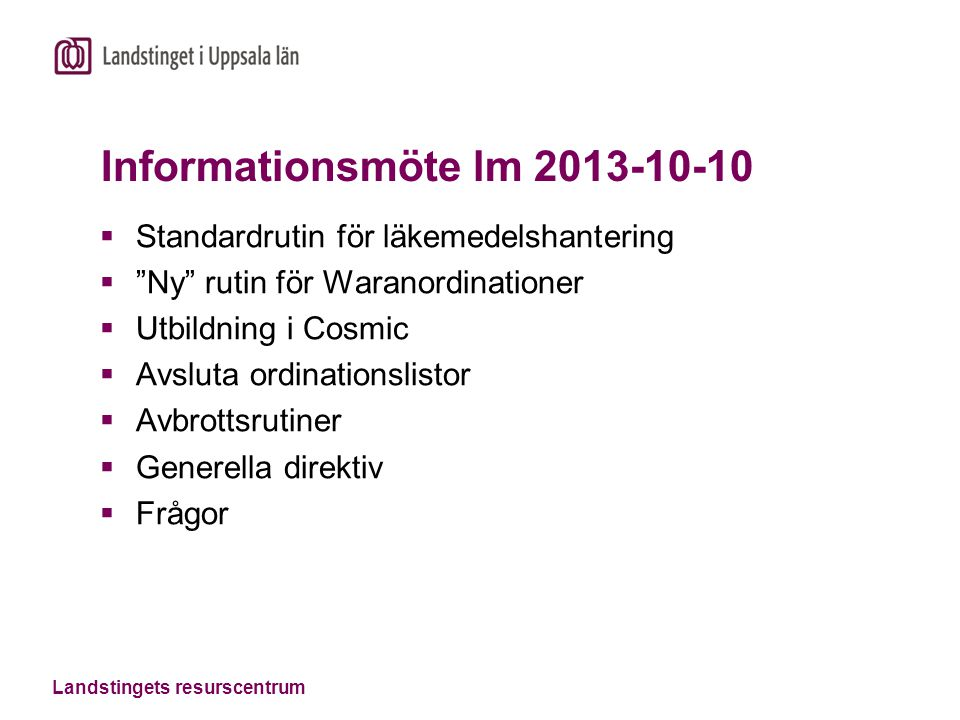 Informationsmöte lm 2013-10-10