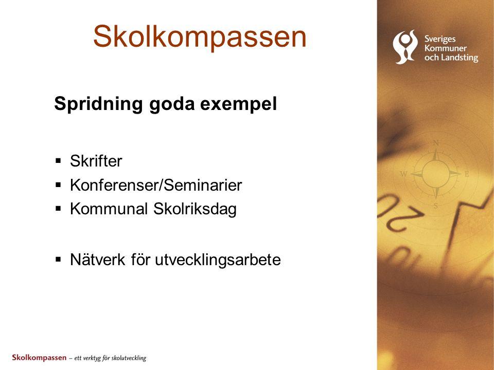 Skolkompassen Spridning goda exempel Skrifter Konferenser/Seminarier