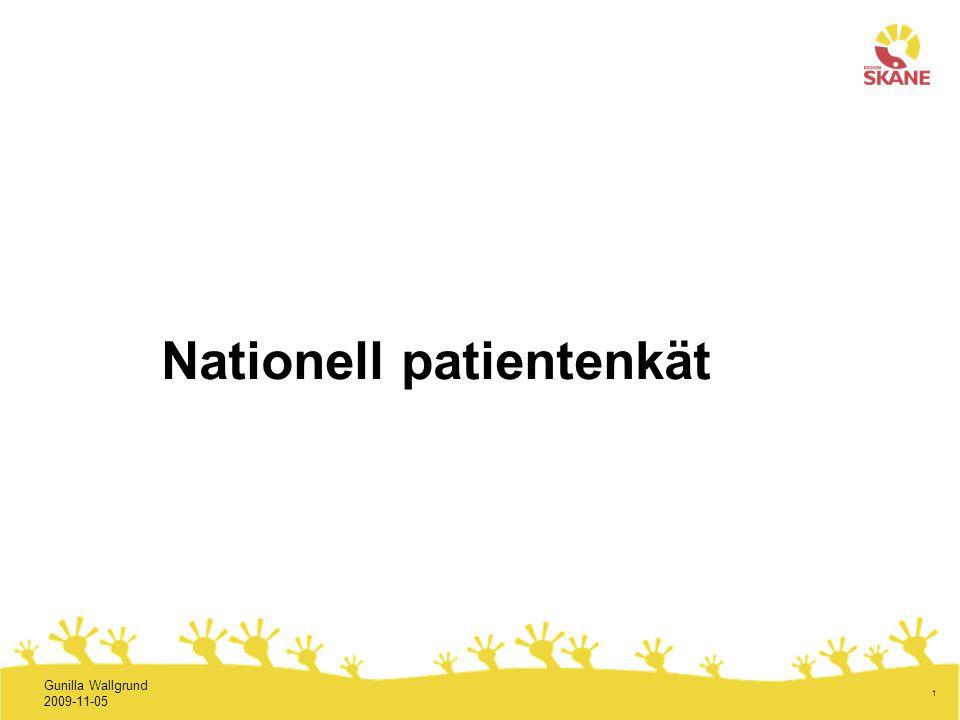 Nationell patientenkät