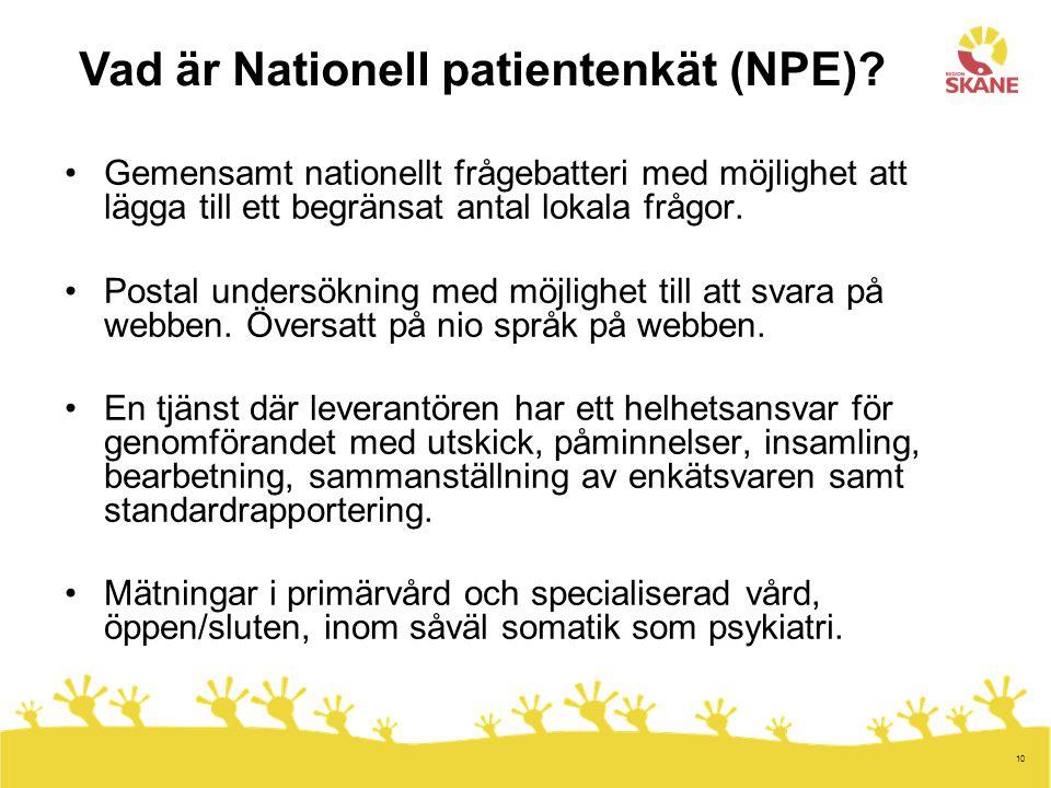 Vad är Nationell patientenkät (NPE)