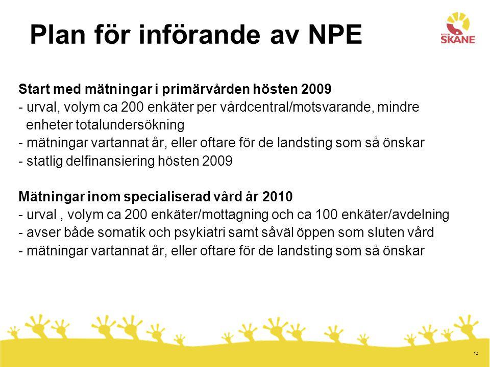 Plan för införande av NPE