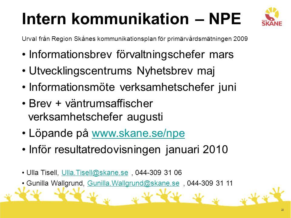 Intern kommunikation – NPE