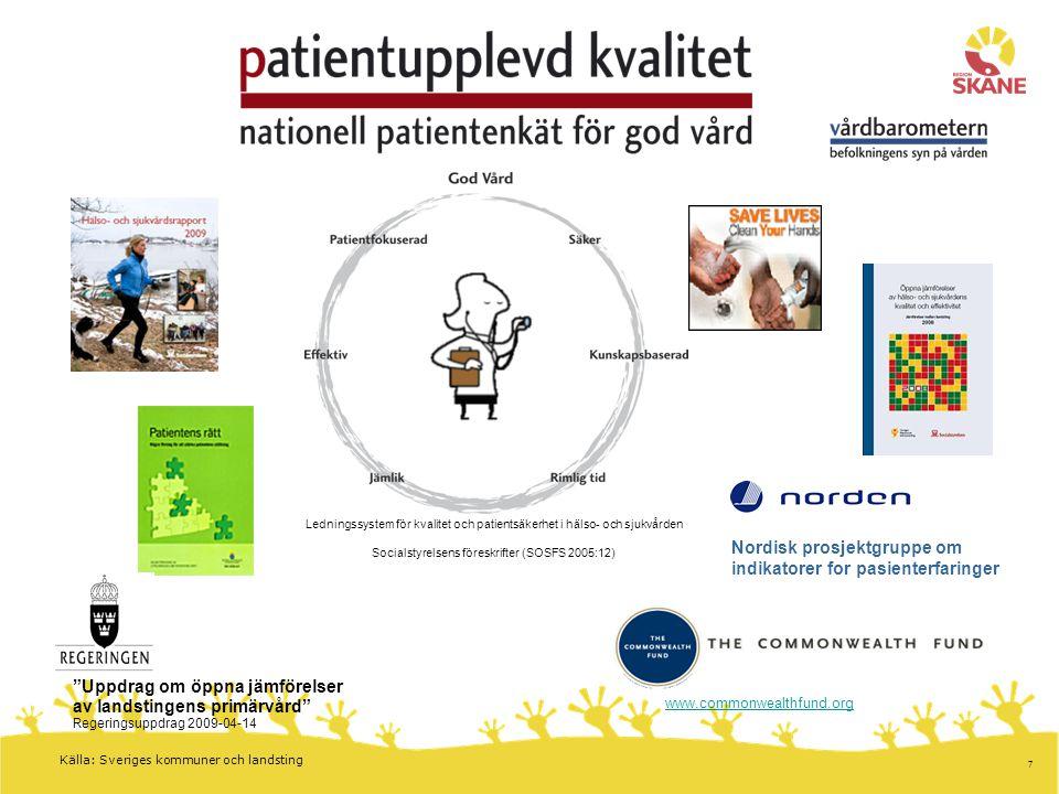 Nordisk prosjektgruppe om indikatorer for pasienterfaringer