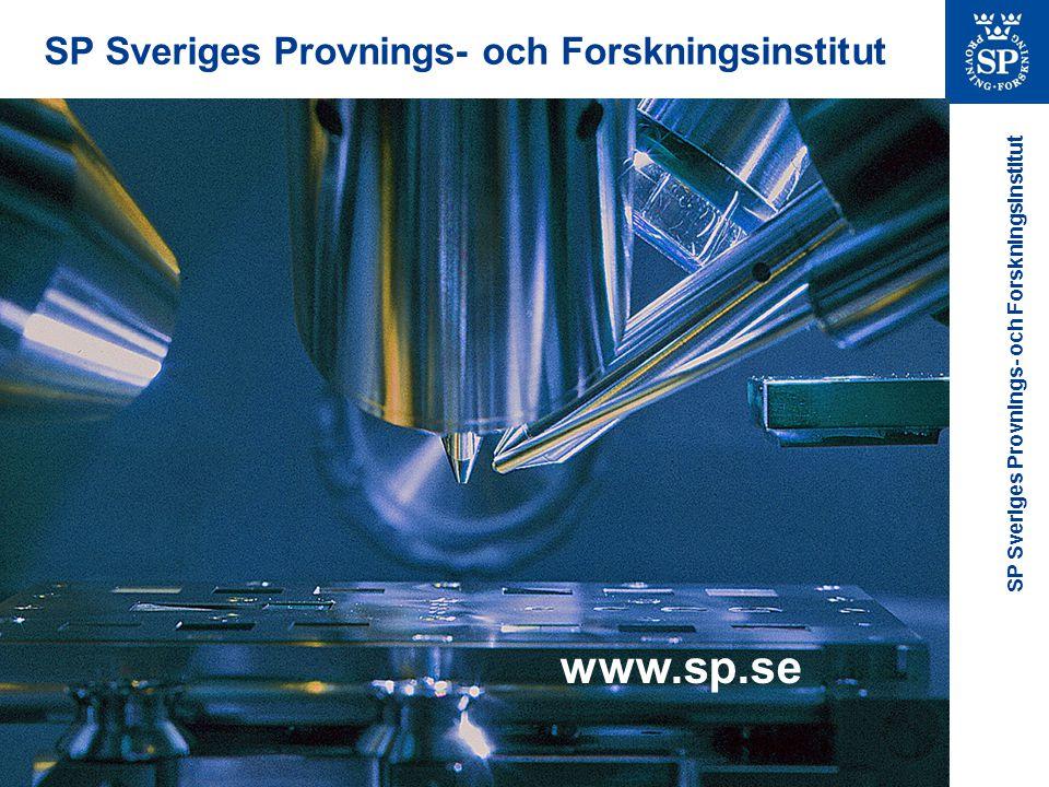 www.sp.se SP Sveriges Provnings- och Forskningsinstitut