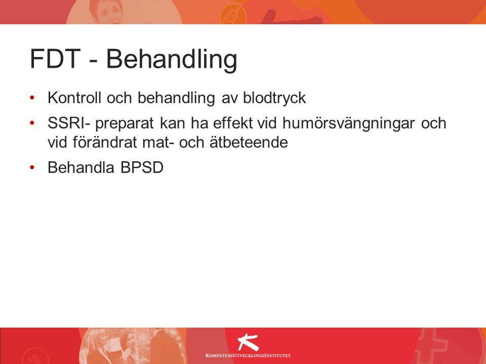 FDT - Behandling Kontroll och behandling av blodtryck