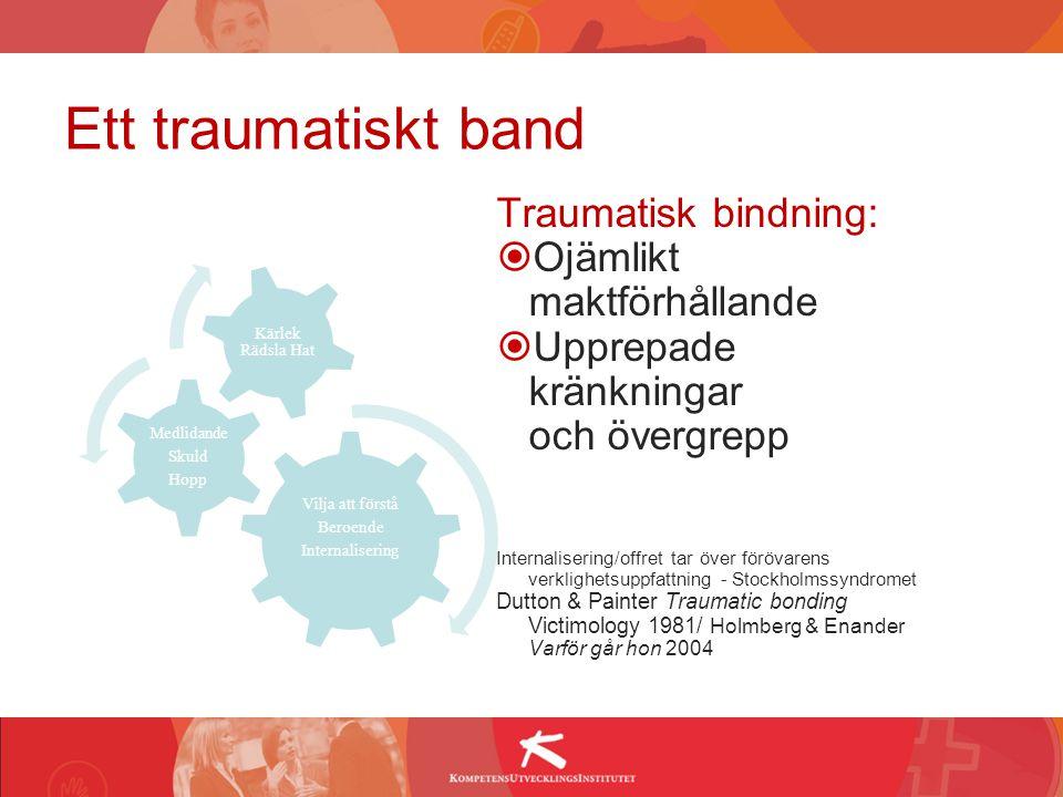 Ett traumatiskt band Traumatisk bindning: Ojämlikt maktförhållande