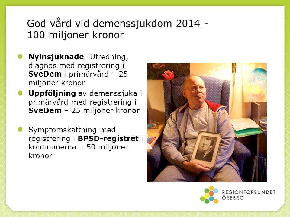 God vård vid demenssjukdom 2014 - 100 miljoner kronor