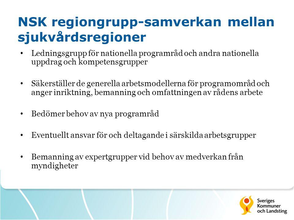 NSK regiongrupp-samverkan mellan sjukvårdsregioner