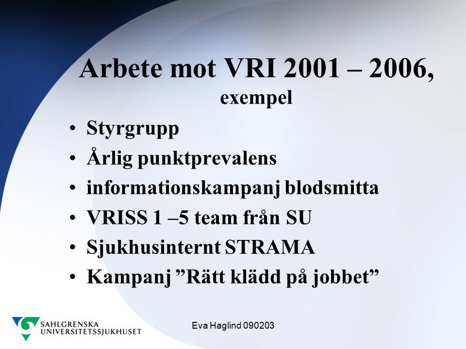 Arbete mot VRI 2001 – 2006, exempel