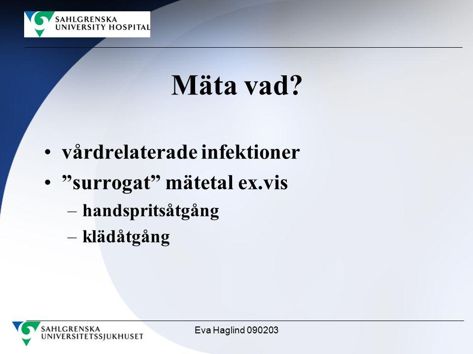 Mäta vad vårdrelaterade infektioner surrogat mätetal ex.vis
