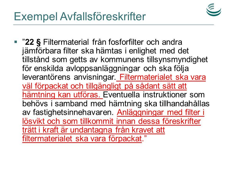 Exempel Avfallsföreskrifter