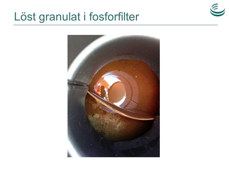 Löst granulat i fosforfilter