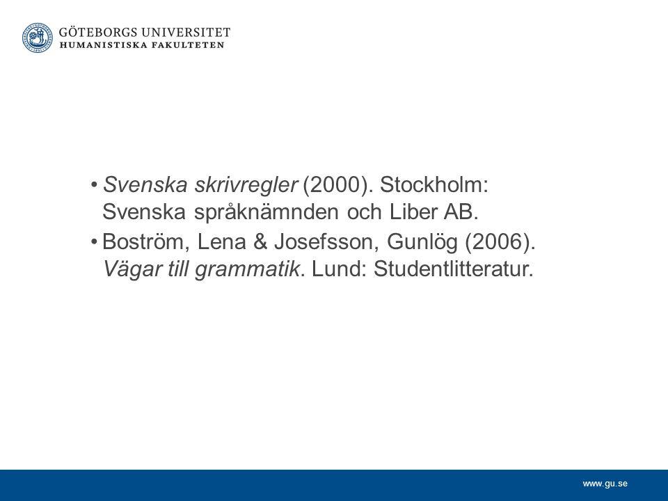 Svenska skrivregler (2000)