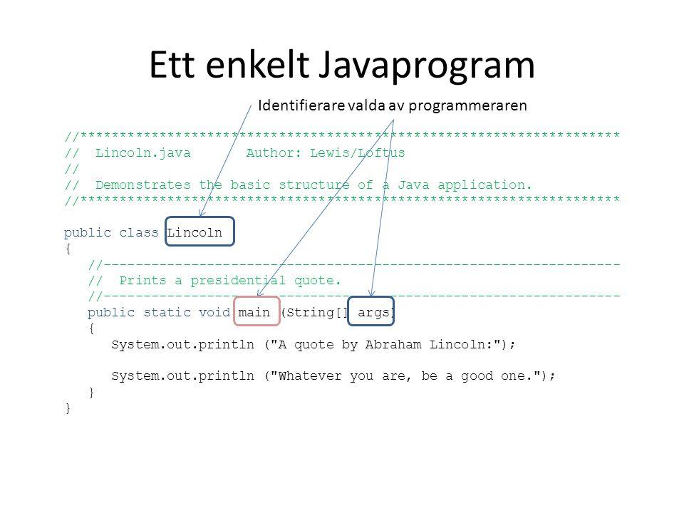 Ett enkelt Javaprogram