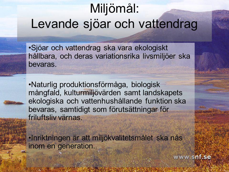 Miljömål: Levande sjöar och vattendrag