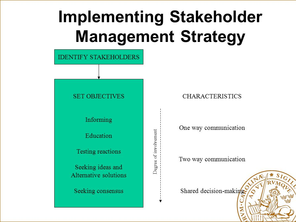 Implementing Stakeholder Management Strategy