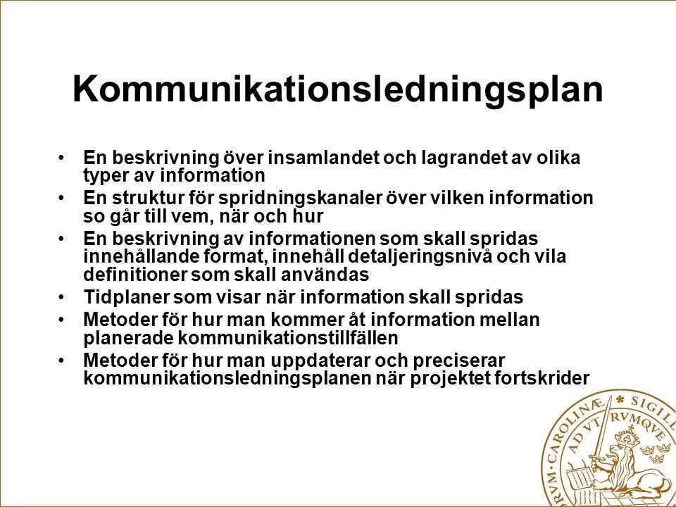 Kommunikationsledningsplan