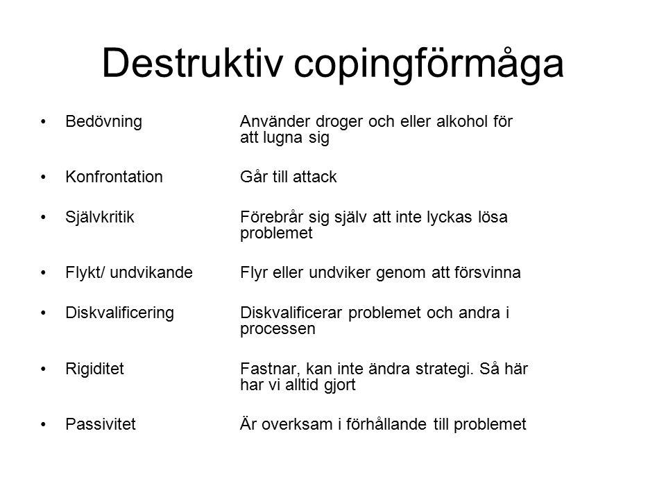 Destruktiv copingförmåga