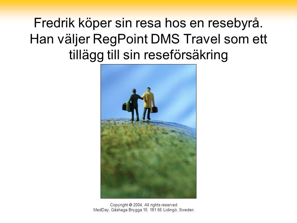 Fredrik köper sin resa hos en resebyrå