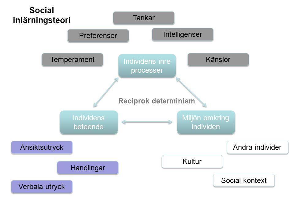 Social inlärningsteori