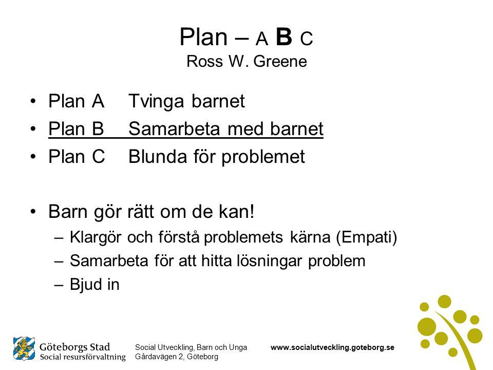 Plan – A B C Ross W. Greene Plan A Tvinga barnet