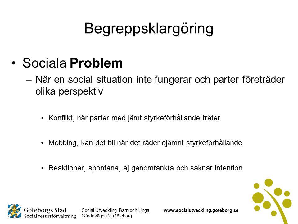 Begreppsklargöring Sociala Problem