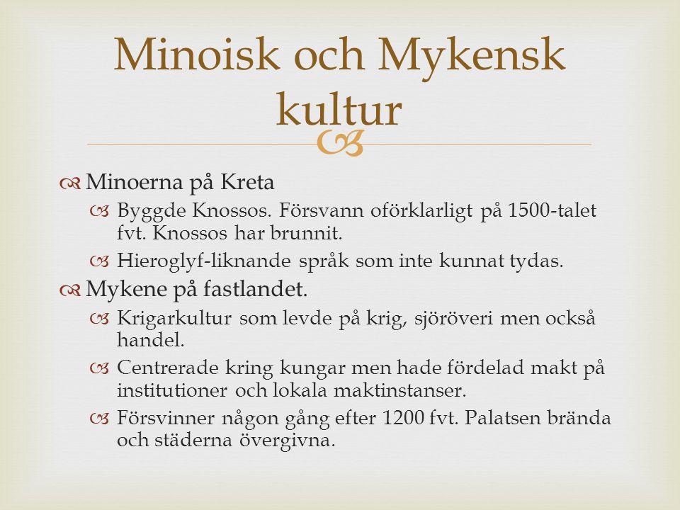 Minoisk och Mykensk kultur