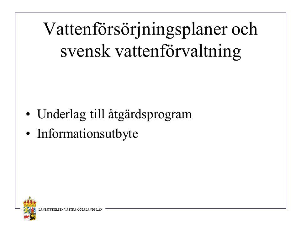 Vattenförsörjningsplaner och svensk vattenförvaltning