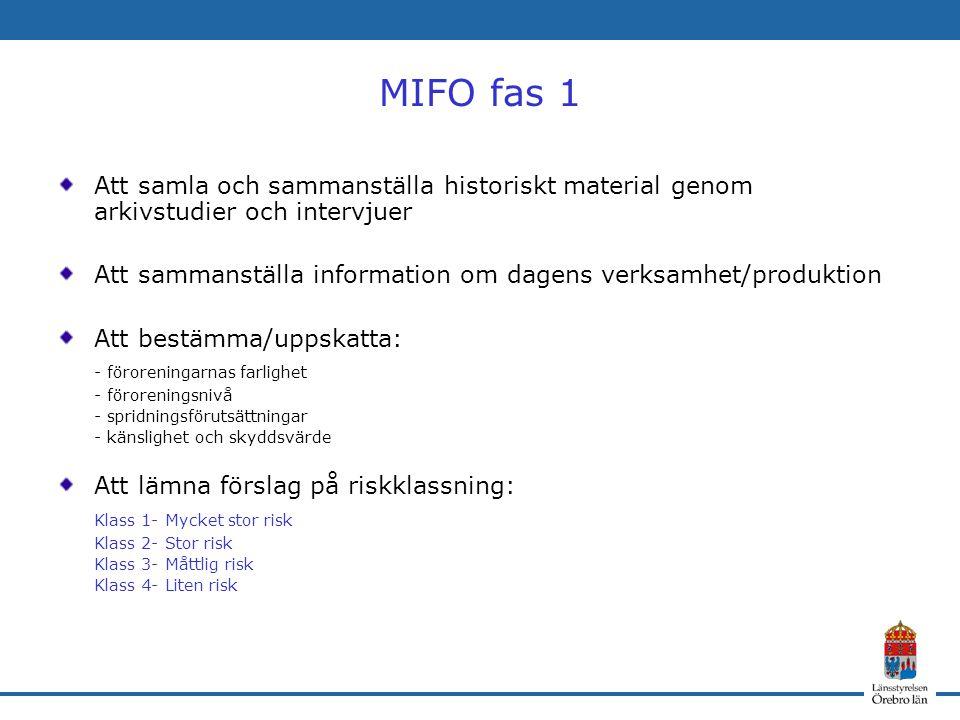 MIFO fas 1 Att samla och sammanställa historiskt material genom arkivstudier och intervjuer.