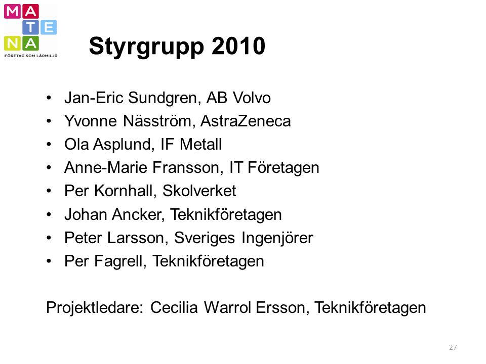 Styrgrupp 2010 Jan-Eric Sundgren, AB Volvo