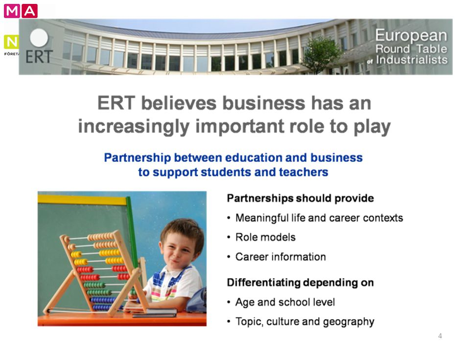 Jan-Eric: Kort om utgångsläget – ERTs respons – insikten och viljan att företagen har en viktig roll att spela.