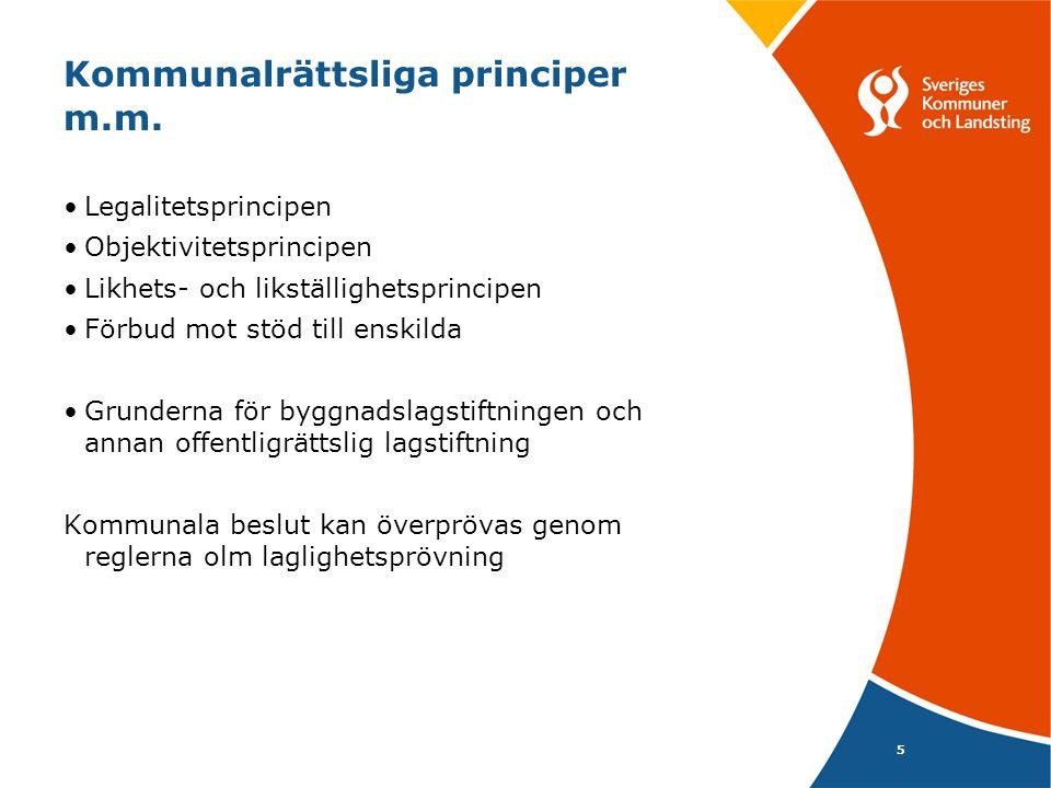 Kommunalrättsliga principer m.m.