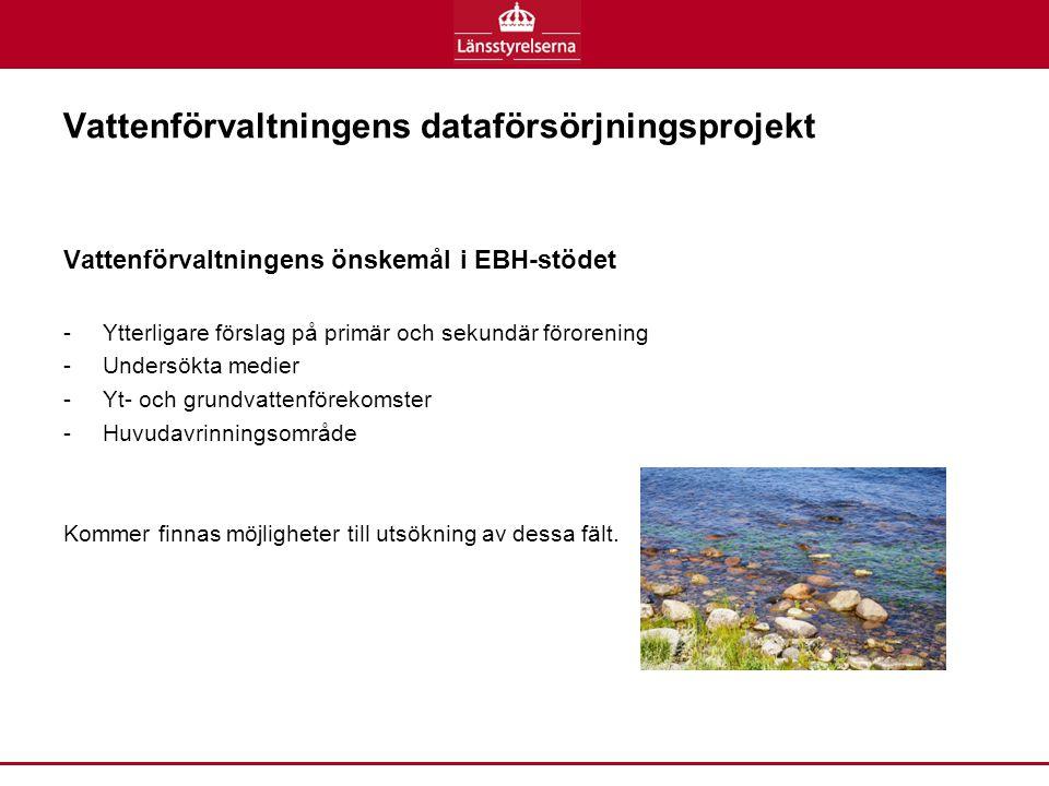 Vattenförvaltningens dataförsörjningsprojekt