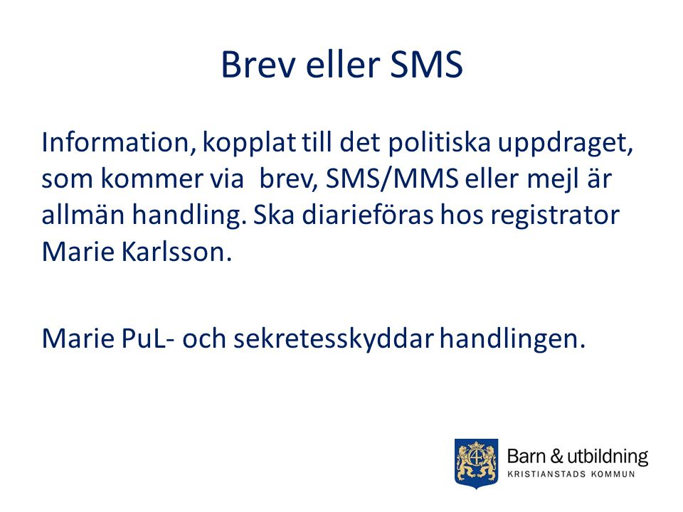 Brev eller SMS