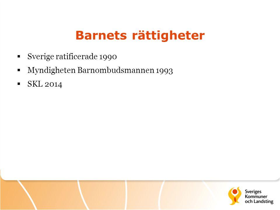 Barnets rättigheter Sverige ratificerade 1990