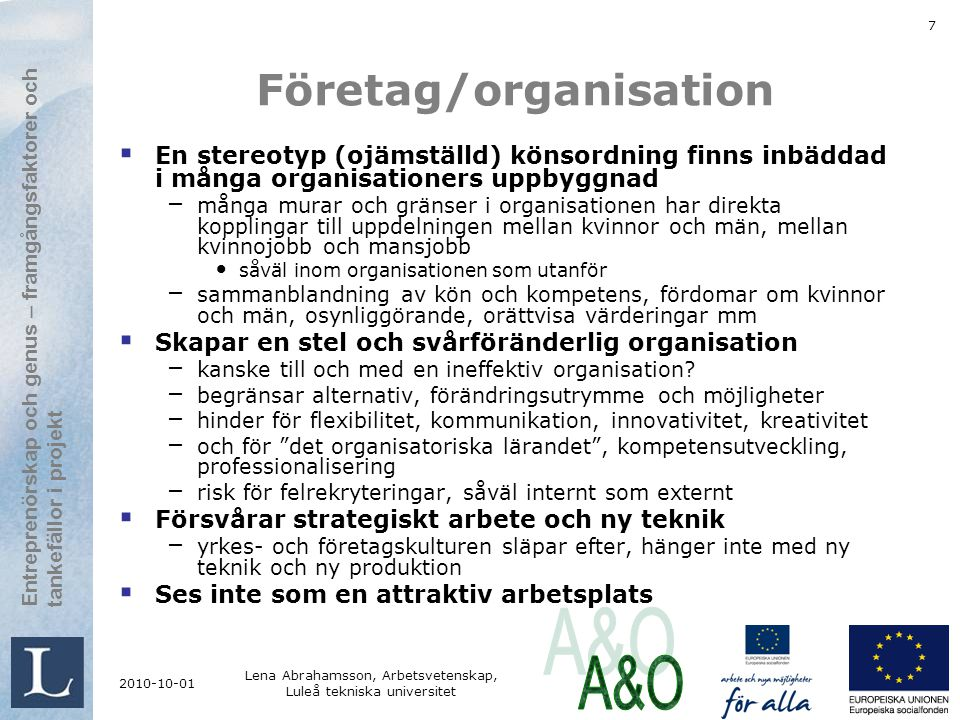 Företag/organisation