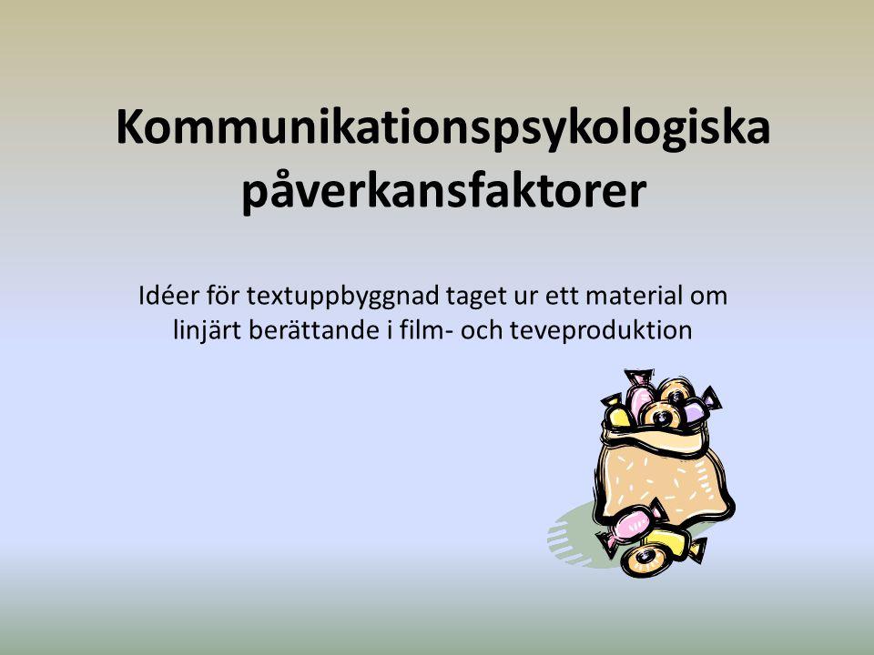 Kommunikationspsykologiska påverkansfaktorer