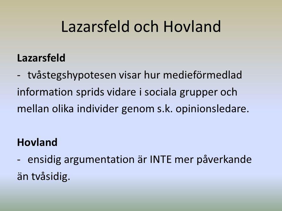 Lazarsfeld och Hovland